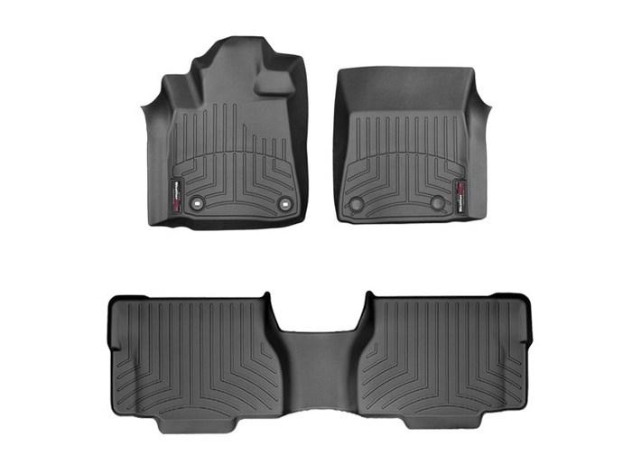 WeatherTech DigitalFit Floor Mats for 2012-2018 Toyota Sequoia [Covers Front & Rear, Black] (WEA95059)