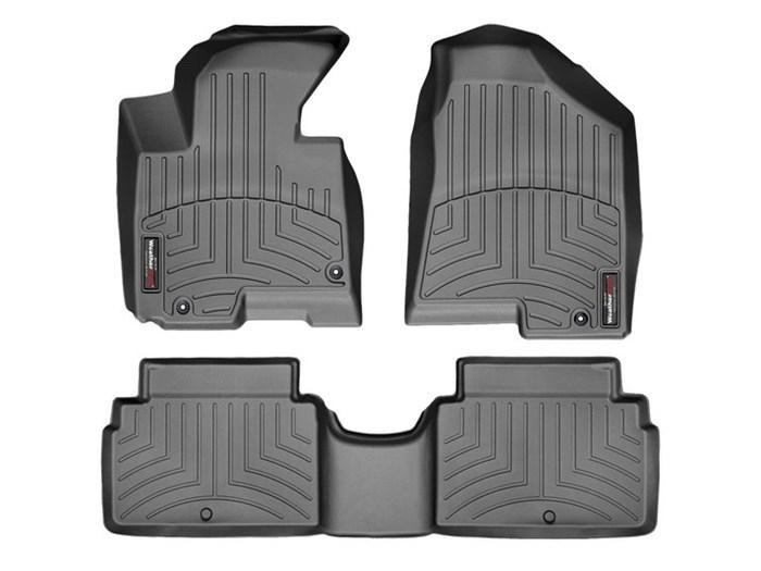 WeatherTech DigitalFit Floor Mats for 2013-2014 Kia Sportage [Covers Front & Rear, Black] (WEA94748)