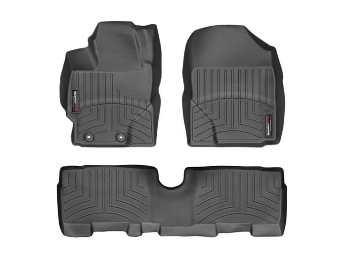 WeatherTech DigitalFit Floor Mats for 2013-2014 Scion xD [Covers Front & Rear, Black] (WEA95078)