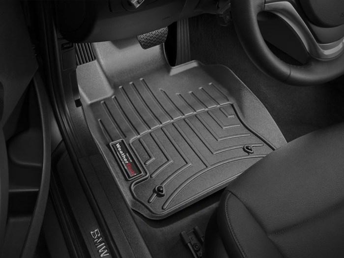 WeatherTech DigitalFit Floor Mats for 2013-2015 BMW X1 [Covers Front, Black] (WEA94973)