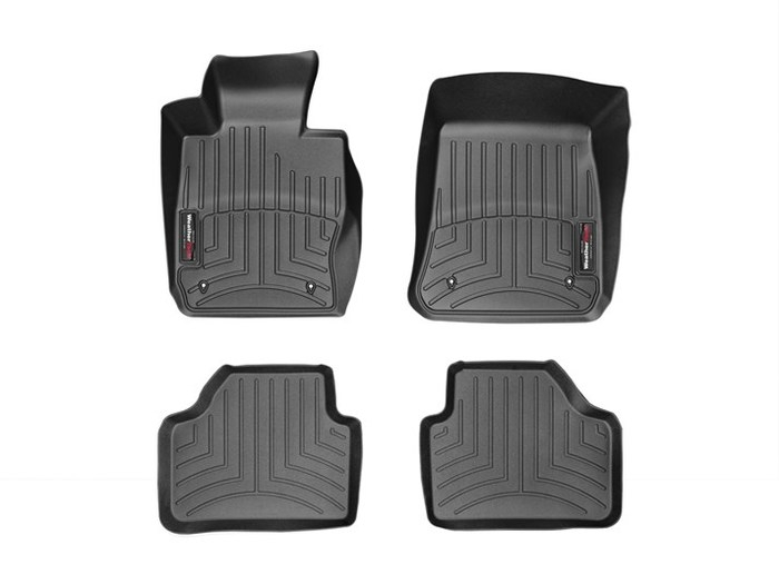 WeatherTech DigitalFit Floor Mats for 2013-2015 BMW X1 [Covers Front & Rear, Black] (WEA94972)