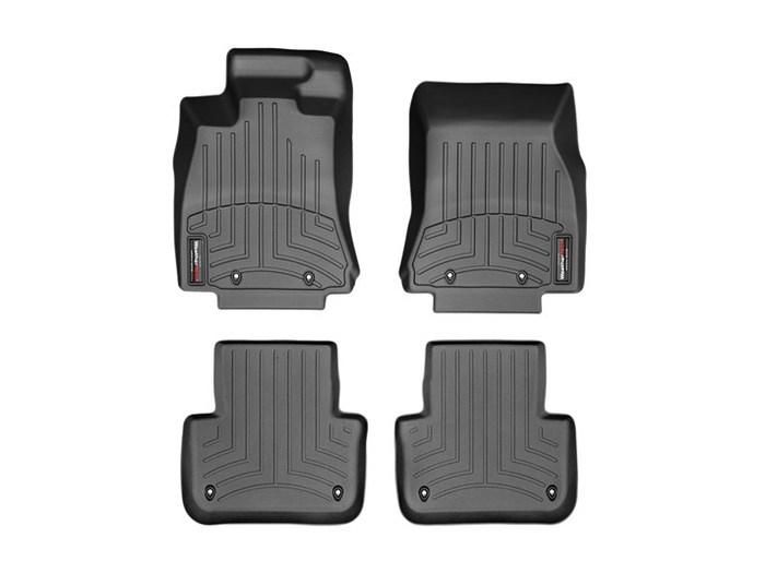 WeatherTech DigitalFit Floor Mats for 2013-2015 Jaguar XF [Covers Front & Rear, Black] (WEA95143)