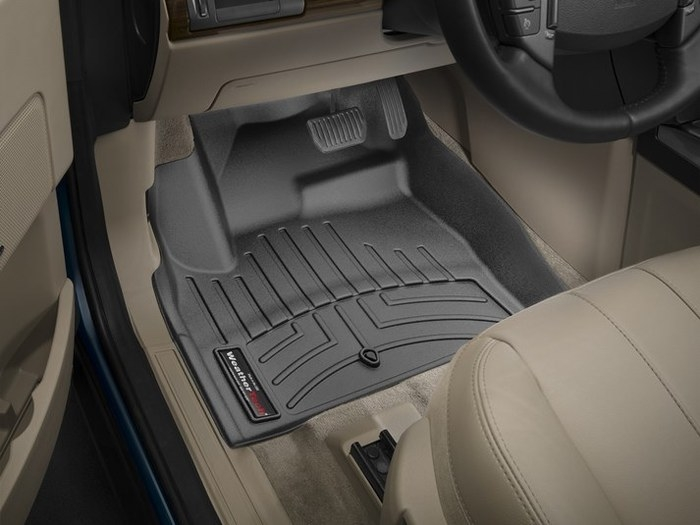 WeatherTech DigitalFit Floor Mats for 2013-2015 Land Rover LR2 [Covers Front, Black] (WEA95416)