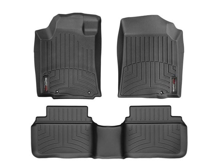 WeatherTech DigitalFit Floor Mats for 2013-2015 Nissan Altima [Covers Front & Rear, Black] (WEA95282)