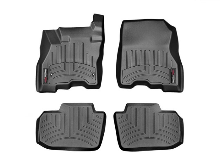 WeatherTech DigitalFit Floor Mats for 2013-2015 Nissan Leaf [Covers Front & Rear, Black] (WEA95375)