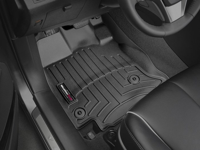 WeatherTech DigitalFit Floor Mats for 2013-2015 Toyota Venza [Covers Front, Black] (WEA95200)