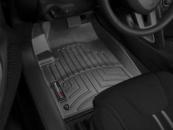 WeatherTech DigitalFit Floor Mats for 2013-2016 Dodge Dart [Covers Front, Black] (WEA95191)