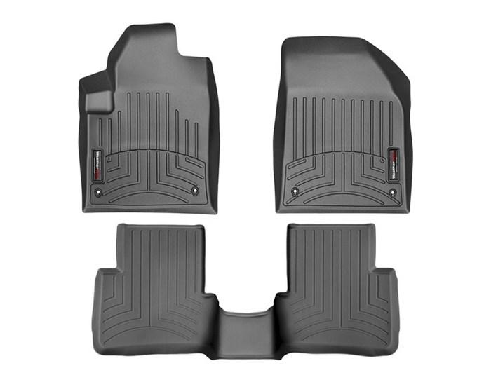 WeatherTech DigitalFit Floor Mats for 2013-2016 Dodge Dart [Covers Front & Rear, Black] (WEA95190)