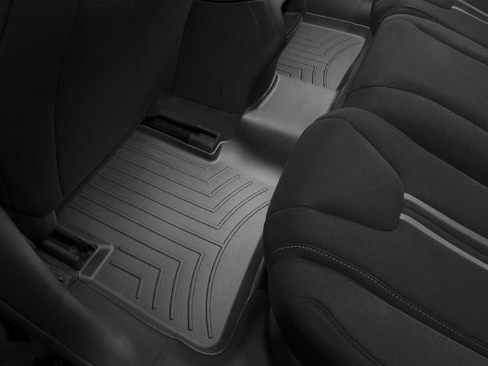 WeatherTech DigitalFit Floor Mats for 2013-2016 Dodge Dart [Covers Rear, Black] (WEA95192)