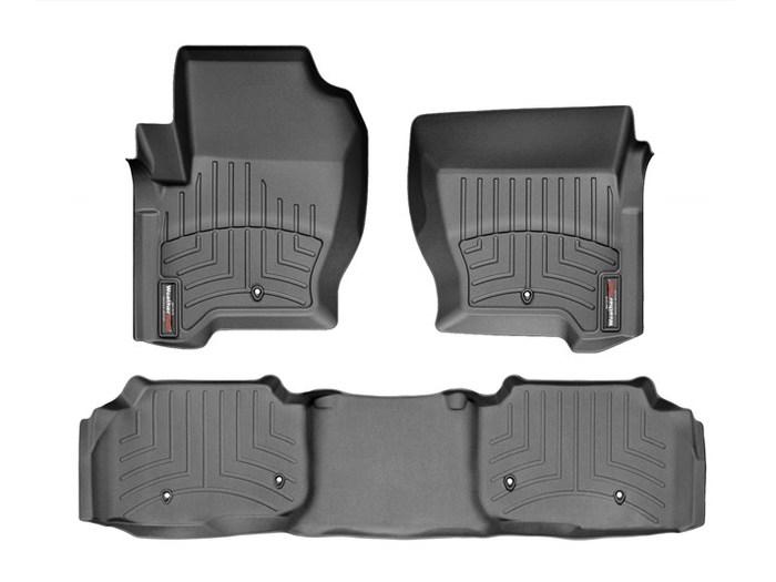 WeatherTech DigitalFit Floor Mats for 2013-2016 Land Rover LR4 [Covers Front & Rear, Black] (WEA94965)