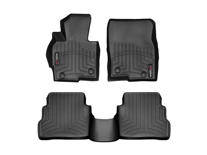 WeatherTech DigitalFit Floor Mats for 2013-2016 Mazda CX-5 [Covers Front & Rear, Black] (WEA95081)