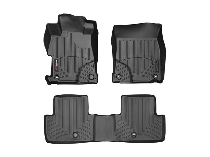WeatherTech DigitalFit Floor Mats for 2013-2017 Acura ILX [Covers Front & Rear, Black] (WEA95264)