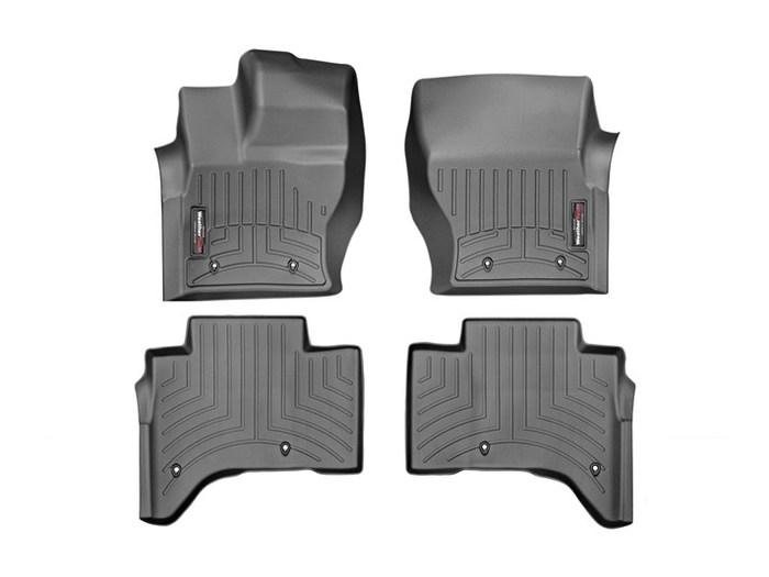 WeatherTech DigitalFit Floor Mats for 2013-2017 Land Rover Range Rover [Covers Front & Rear, Black] (WEA95220)