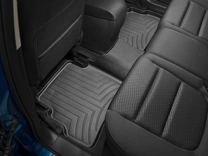 WeatherTech DigitalFit Floor Mats for 2013-2017 Mazda CX-5 [Covers Rear, Black] (WEA95083)
