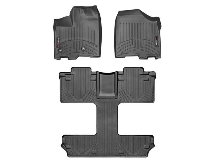 WeatherTech DigitalFit Floor Mats for 2013-2017 Toyota Sienna [Covers Front & Rear, Black] (WEA95207)