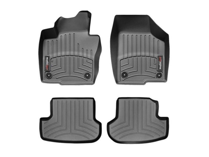 WeatherTech DigitalFit Floor Mats for 2013-2017 Volkswagen Beetle [Covers Front & Rear, Black] (WEA94897)