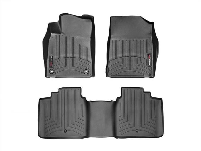 WeatherTech DigitalFit Floor Mats for 2013-2018 Toyota Avalon [Covers Front & Rear, Black] (WEA95291)
