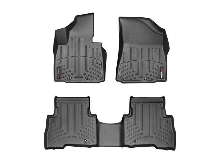 WeatherTech DigitalFit Floor Mats for 2014-2015 Kia Sorento [Covers Front & Rear, Black] (WEA95390)