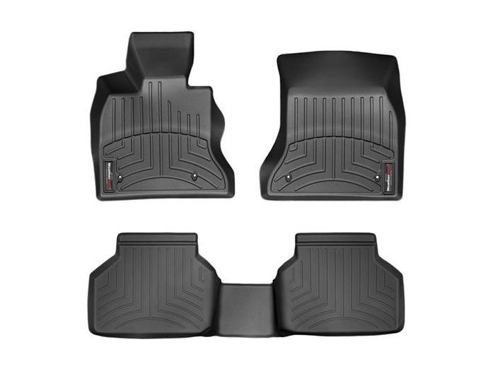 WeatherTech DigitalFit Floor Mats for 2014-2016 BMW 535i GT [Covers Front & Rear, Black] (WEA94809)
