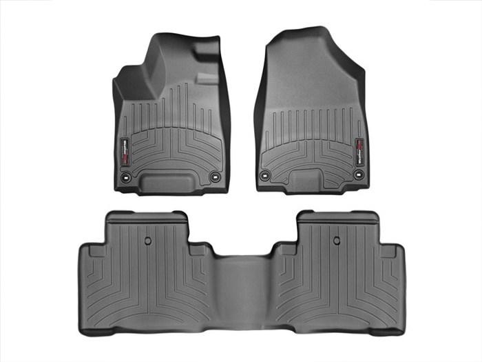 WeatherTech DigitalFit Floor Mats for 2014-2017 Acura MDX [Covers Front & Rear, Black] (WEA95448)