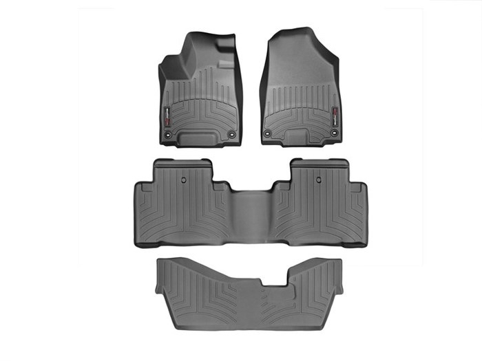 WeatherTech DigitalFit Floor Mats for 2014-2017 Acura MDX [Covers Front & Rear, Black] (WEA95449)