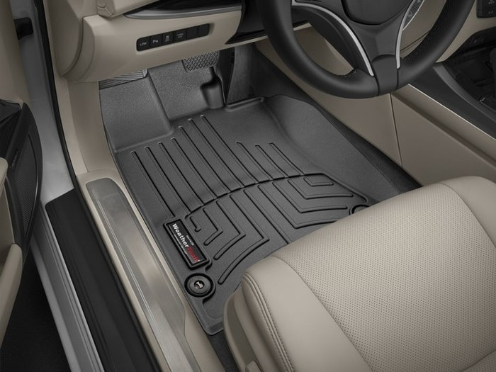 WeatherTech DigitalFit Floor Mats for 2014-2017 Acura RLX [Covers Front, Black] (WEA95395)