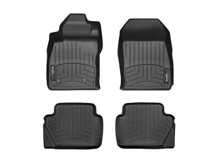 WeatherTech DigitalFit Floor Mats for 2014-2017 Ford Fiesta [Covers Front & Rear, Black] (WEA94854)