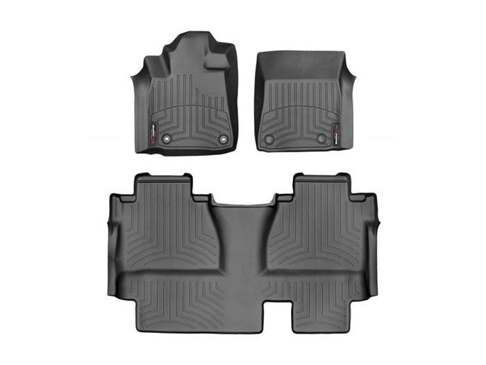 WeatherTech DigitalFit Floor Mats for 2014-2017 Toyota Tundra [Covers Front & Rear, Black] (WEA95061)