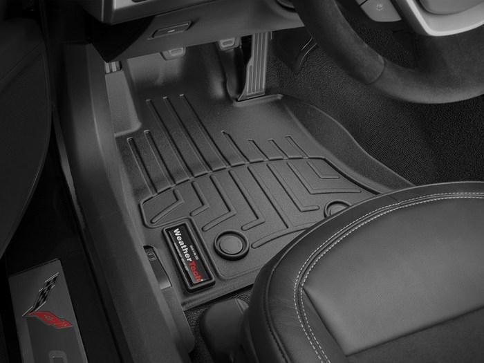 WeatherTech DigitalFit Floor Mats for 2014-2018 Chevrolet Corvette [Covers Front, Black] (WEA95470)