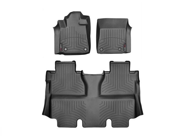 WeatherTech DigitalFit Floor Mats for 2014-2018 Toyota Tundra [Covers Front & Rear, Black] (WEA95060)