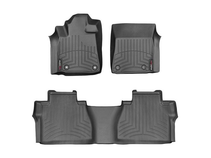 WeatherTech DigitalFit Floor Mats for 2014-2018 Toyota Tundra [Covers Front & Rear, Black] (WEA95062)