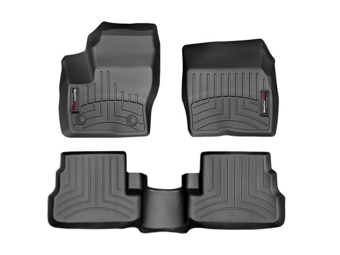 WeatherTech DigitalFit Floor Mats for 2015-2016 Lincoln MKC [Covers Front & Rear, Black] (WEA95171)