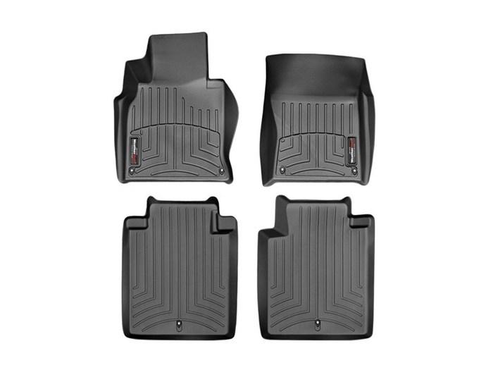 WeatherTech DigitalFit Floor Mats for 2015-2017 Infiniti Q70L [Covers Front & Rear, Black] (WEA94794)