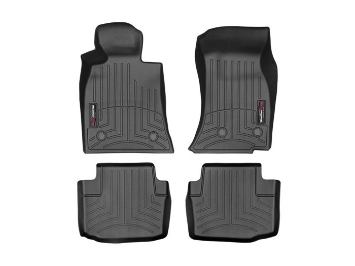 WeatherTech DigitalFit Floor Mats for 2015-2018 Cadillac CTS [Covers Front & Rear, Black] (WEA95275)