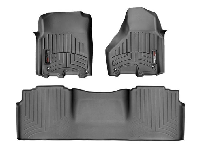 WeatherTech DigitalFit Floor Mats for 2500/3500 [Covers Front & Rear, Black] (WEA95219)