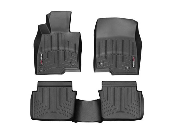 WeatherTech DigitalFit Floor Mats for 3/3 Sport [Covers Front & Rear, Black] (WEA95247)