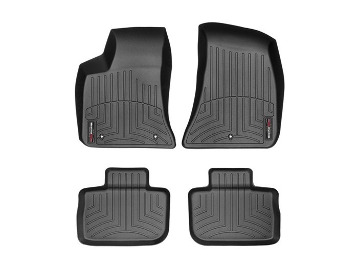WeatherTech DigitalFit Floor Mats for 300/Charger [Covers Front & Rear, Black] (WEA95009)