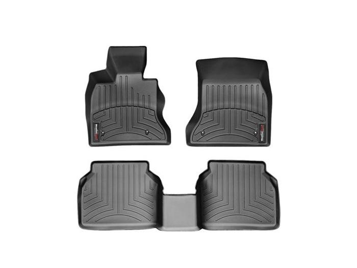 WeatherTech DigitalFit Floor Mats for 535i GT/550i GT [Covers Front & Rear, Black] (WEA94808)