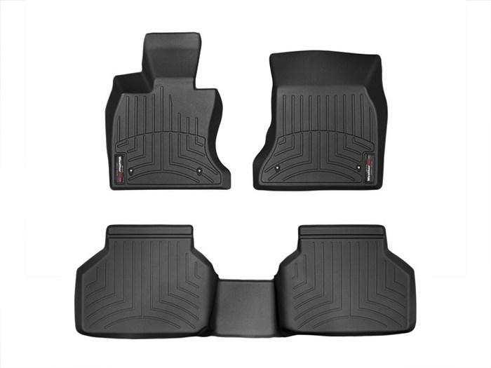 WeatherTech DigitalFit Floor Mats for 535i GT xDrive/550i GT xDrive [Covers Front & Rear, Black] (WEA95303)