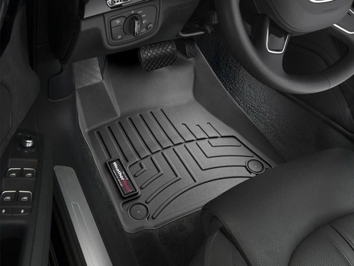 WeatherTech DigitalFit Floor Mats for A8 Quattro/S8 [Covers Front, Black] (WEA95085)