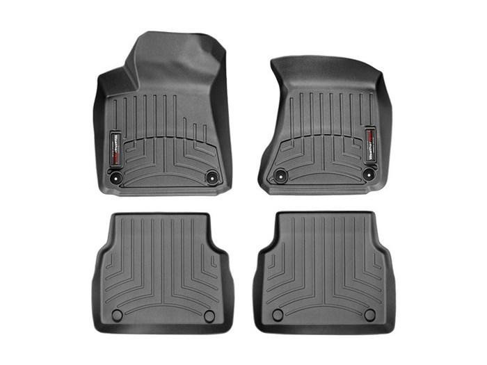 WeatherTech DigitalFit Floor Mats for A8 Quattro/S8 [Covers Front & Rear, Black] (WEA95086)