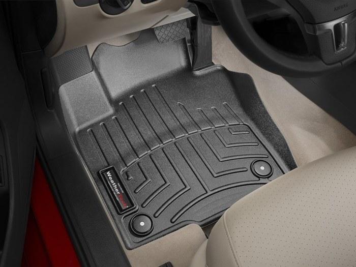WeatherTech DigitalFit Floor Mats for Beetle/Jetta [Covers Front, Black] (WEA94898)