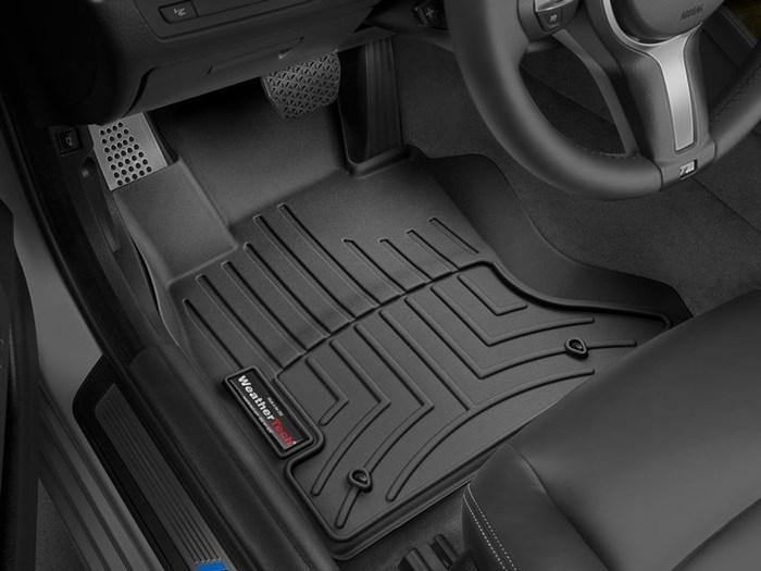 WeatherTech DigitalFit Floor Mats for BMW [Covers Front, Black] (WEA94878)