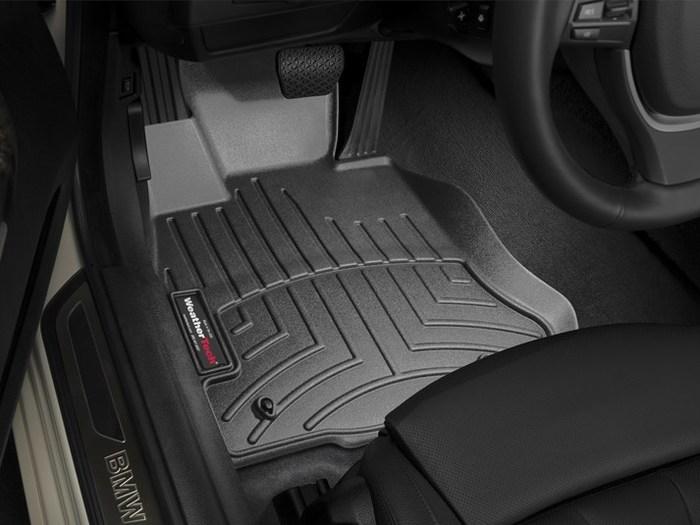 WeatherTech DigitalFit Floor Mats for BMW [Covers Front, Black] (WEA94986)