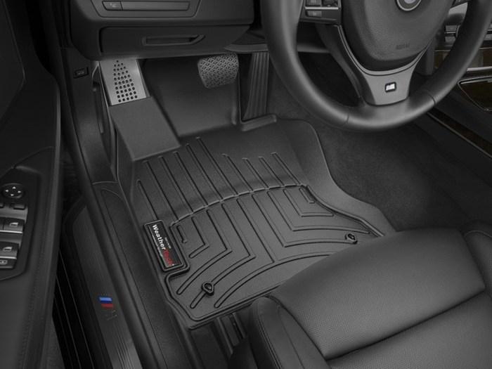 WeatherTech DigitalFit Floor Mats for BMW [Covers Front, Black] (WEA94995)