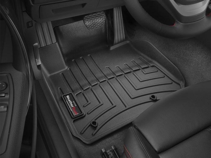WeatherTech DigitalFit Floor Mats for BMW [Covers Front, Black] (WEA95068)