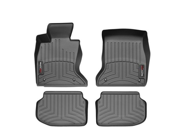 WeatherTech DigitalFit Floor Mats for BMW [Covers Front & Rear, Black] (WEA94879)