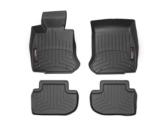 WeatherTech DigitalFit Floor Mats for BMW [Covers Front & Rear, Black] (WEA94985)