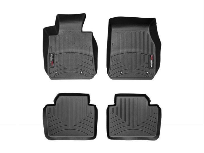 WeatherTech DigitalFit Floor Mats for BMW [Covers Front & Rear, Black] (WEA95066)