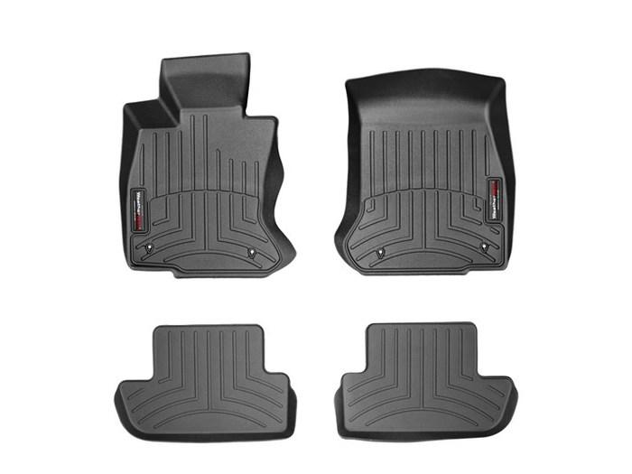 WeatherTech DigitalFit Floor Mats for BMW [Covers Front & Rear, Black] (WEA95296)